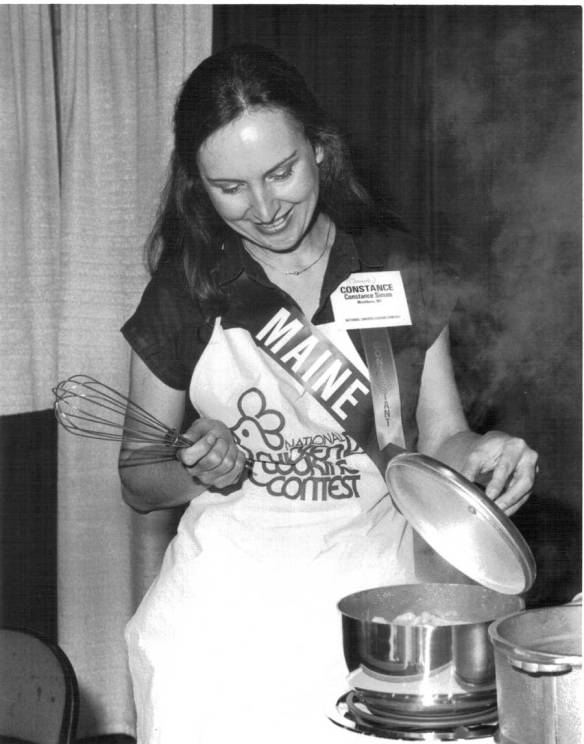 that's me at the national chicken cooking contest in 1983!